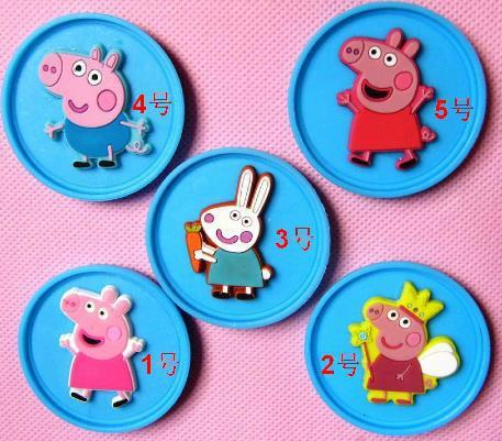 Safe Cute 5 Style Peppa Pig & George Pig Badge Without Fibula Free Shipping