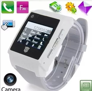 Newest High quality Gift Unlocked Multi-colors Cell Watch phone H2 watch mobile phone with 1.3MP camera MP3 MP4 GADGET GIFT(China (Mainland))