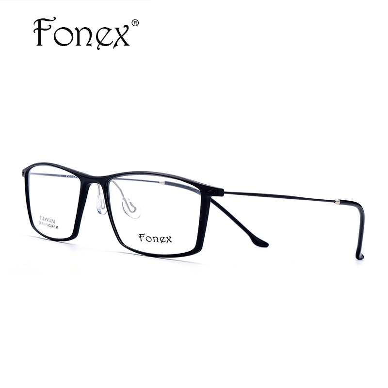 fonex high quality men no screw tr90 glasses frame ultralight titanium square clear frames for women eyewear with original box
