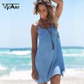 Vicabo Spaghetti Strap Sundress Sleeveless Chiffon Dress Sexy Female Summer Casual Beach Party Mini Slip Dresses