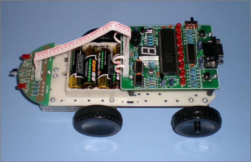 Intelligent remote control robot kit mcu 51 mcu barrowload(China (Mainland))