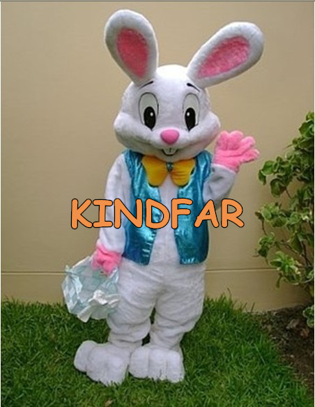 NEW PROFESSIONAL EASTER BUNNY MASCOT COSTUME Bugs Rabbit Hare Adult Fancy Dress Cartoon Suit Free Sh(China (Mainland))