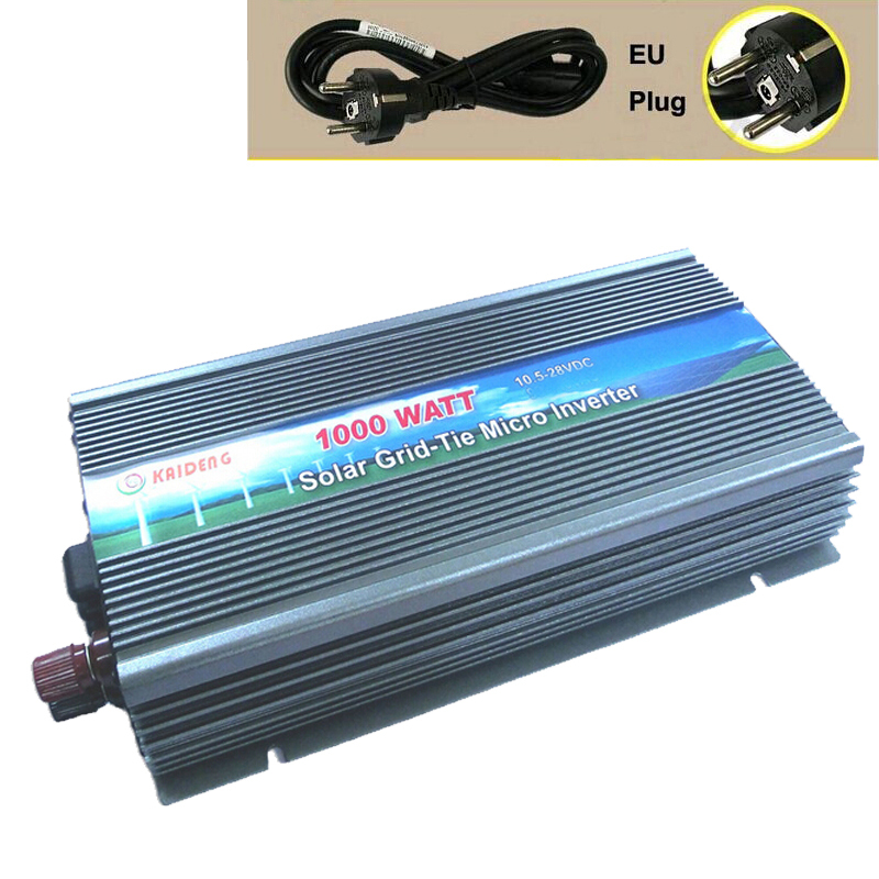 1000W Grid Tie Inverter 1000 Watt Solar Inverter 220V Pure Sine Wave Inverter MPPT EU Plug GTI-1000W(China (Mainland))