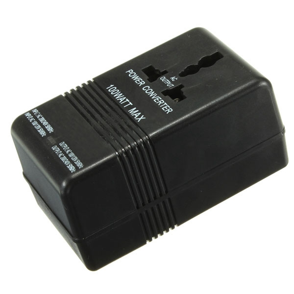 Free Shipping 100W Dual Channel Voltage Converter Adapter AC 110V/120V to 220V/240V Up Down power Transformer Regulator Travel(China (Mainland))