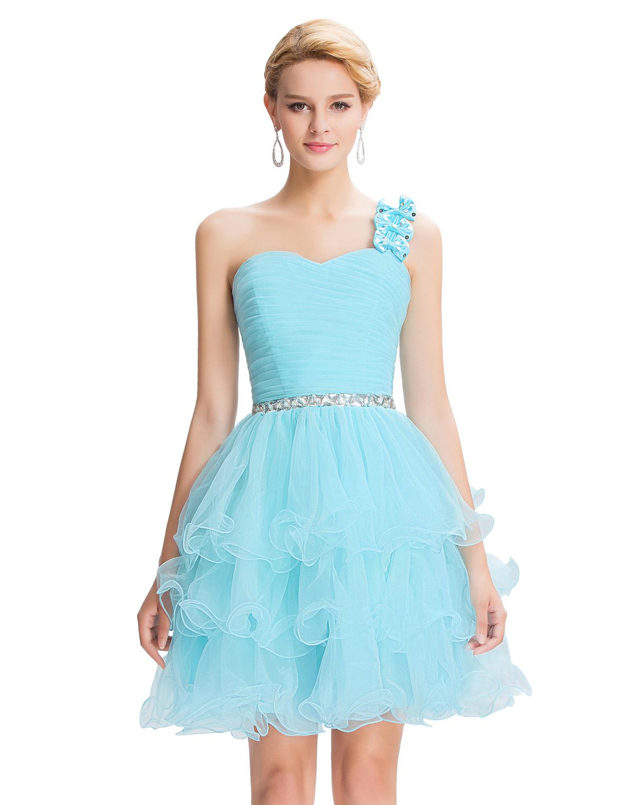 With One Strap Knee Length Prom Dresses – fashion dresses