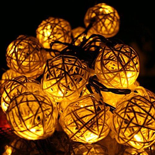 globo iluminacao jardim:20 globo luzes cordas Solar alimentado para o natal pátio ao ar livre