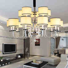 Modern Chandelier Fabric Crystal Chandeliers Diameter 110cm 10+5 Arms  E14 Socket Bedroom Lamp High Quality Chandelier Lampada(China (Mainland))