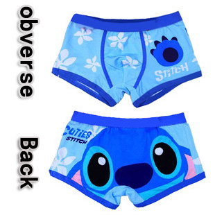Free shipping High quality 100% cotton cartoon underwear men's Boxer shorts couples panties man underpants sexy stitch superman(China (Mainland))