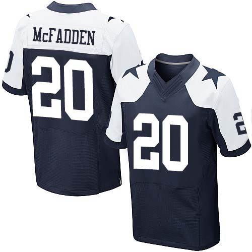 Men's #20 Darren McFadden Elite Navy Blue Throwback Alternate Jersey 100% stitched(China (Mainland))