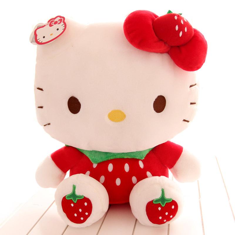 Hello Kitty Stuff Toys : Inch strawberry hello kitty doll plush toys
