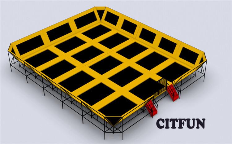 Big custom design indoor trampoline park in playground for Indoor trampoline park design manufacturing
