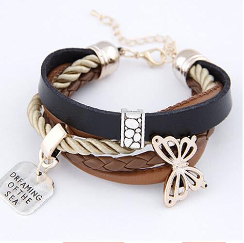 SPX4978 New Arrival Hot Sale Fashion 2014 Bow Bracelets Bangles Jewelry(China (Mainland))