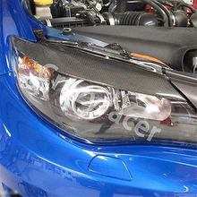 Buy Carbon Fiber Front Headlight Cover Eyelid Eyebrow Subaru Impreza 10th 08-11 for $39.90 in AliExpress store