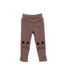 Cute Cat Print Kids Girl Baby Tight Pants Toddler Stretch Warm Trousers