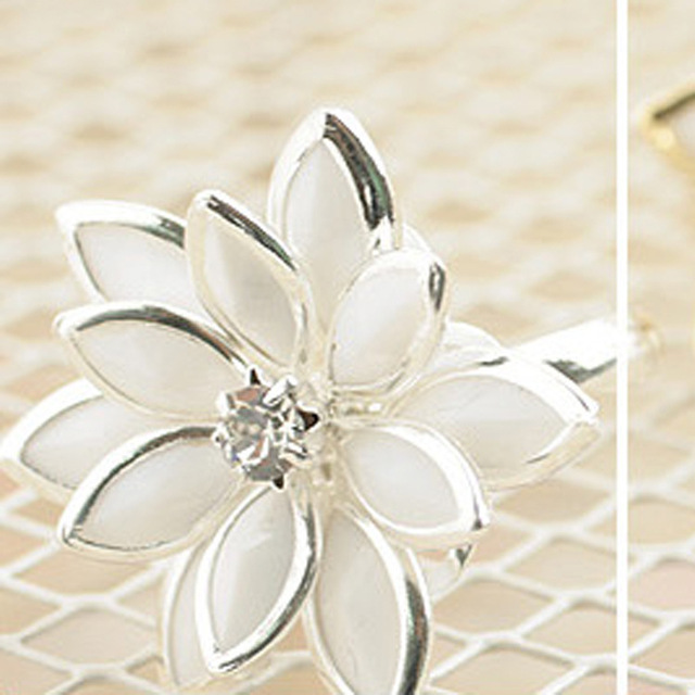 The latest han edition Fresh snow lotus ring ring