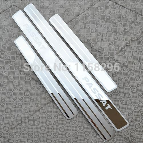 freeshipping stainless steel scuff plate door sill covers for Volkswagen Passat B7 2011-2014 2015 car styling auto accessories(China (Mainland))