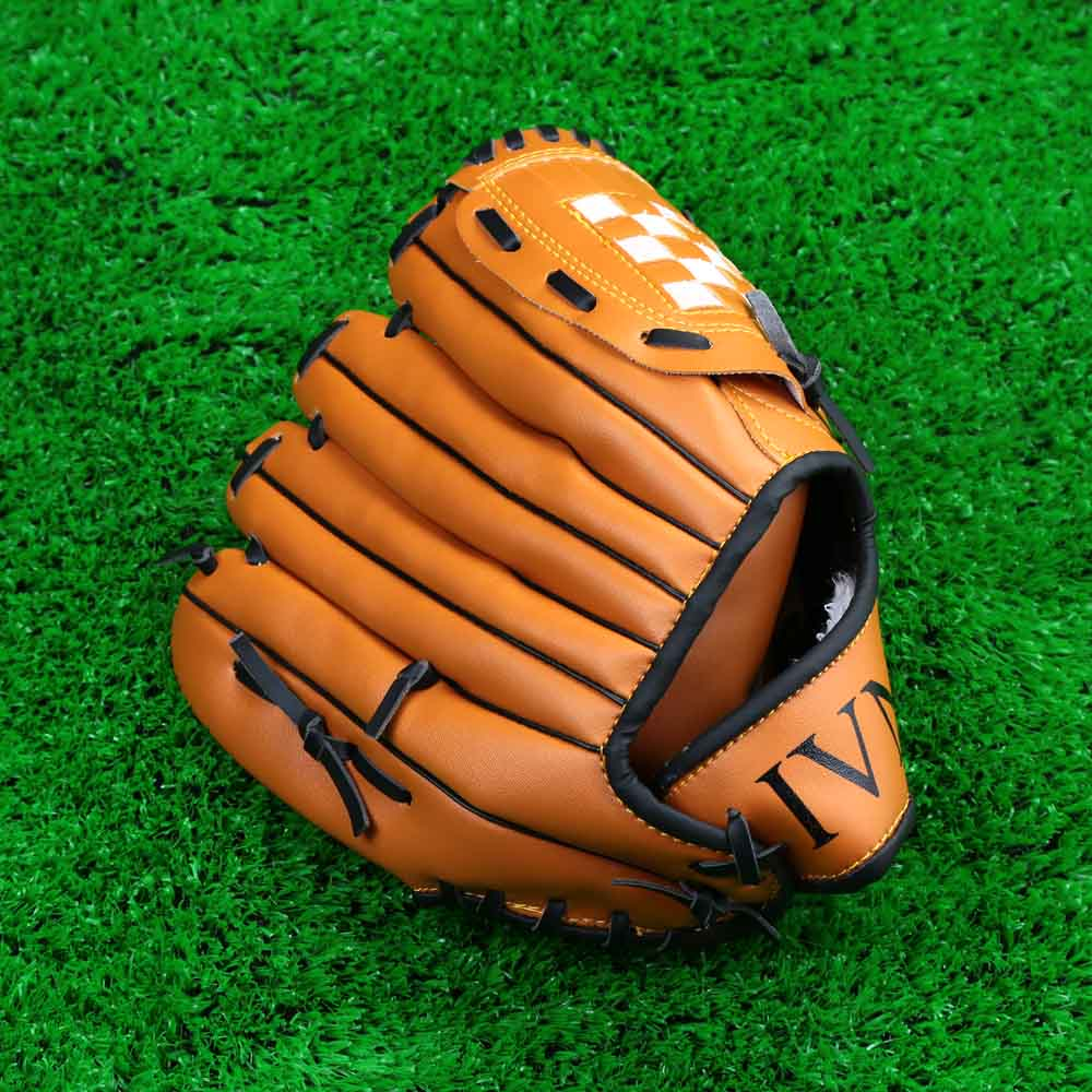 "Outdoor Team Sports Brown Baseball Glove 10.5""/11.5""/12.5"" Left Hand Brown Softball Gloves for Man Woman(China (Mainland))"