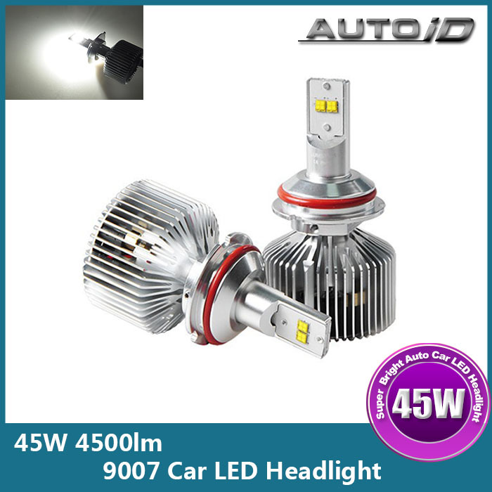 Здесь можно купить  New 2015 45W 4500lm High Power Auto Car 9007 LED Headlight Bulb Hi Lo Beam 6000K 11-30V DC  Автомобили и Мотоциклы