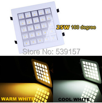 Free Shipping 25W LED Panel Light Square Recessed Ceiling Light Wall Lamp 2750LM For Home illumination Lemonbest Свет и освещение