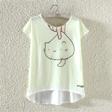 Buy 2017 New Hot Sale Fashion Cute Happy Cat Printed T Shirt Summer Women/Girl Funny Animal Cool Novelty Short Sleeve Tee Tops for $4.74 in AliExpress store