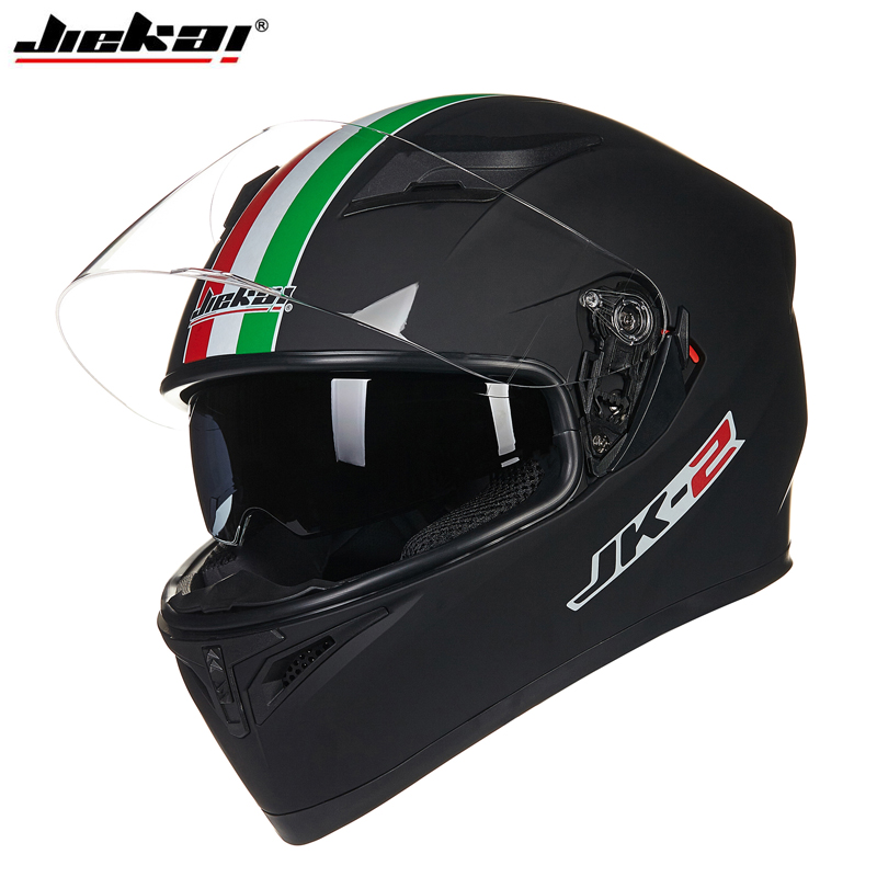 JIEKAI Motorcycle Full Face motorcycle Helmets with Double lenses Motorbike Cross Helmet Capacetes MTB ATV Racing Guard(China (Mainland))