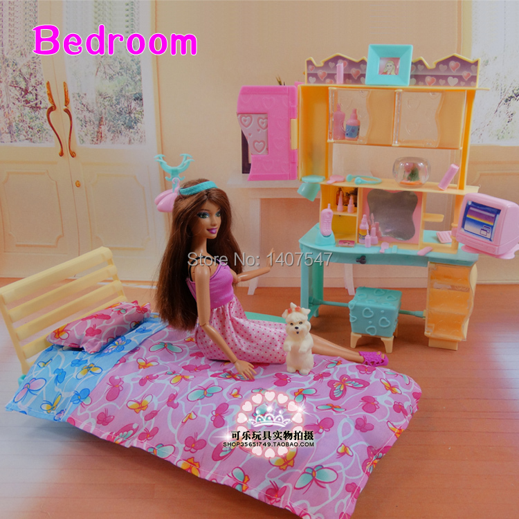 new arrival girl gift play toy doll house bedroom furniture for babie