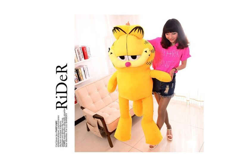 huge toy about 150cm garfield plush toy, hugging pillow toy,surprised birthday gift d794(China (Mainland))