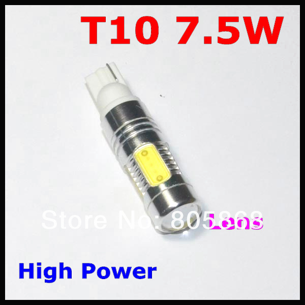 External Lights 7.5w T10 High Power Led with Lens t10 7.5w Signal Light Door Reading Dc12v Free Shipping