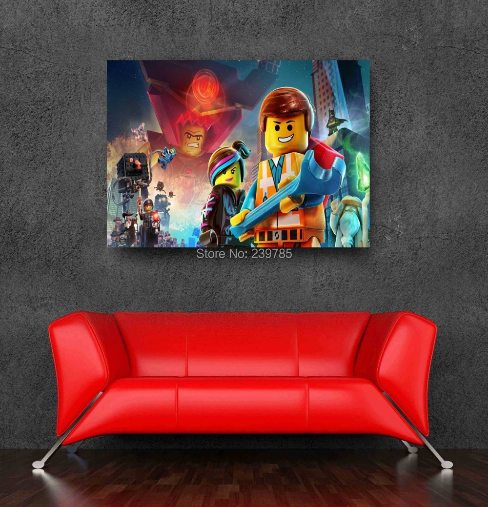 aliexpress com buy newest cartoon lego movie wall gallery for gt lego wall decals for kids rooms