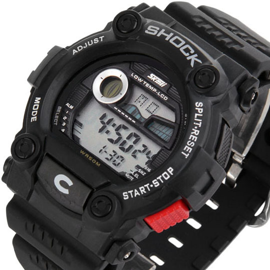 Гаджет  Fashion Sports Calendar Waterproof Men Led Digital Electronic Wrist Watch Male # L05224 None Часы