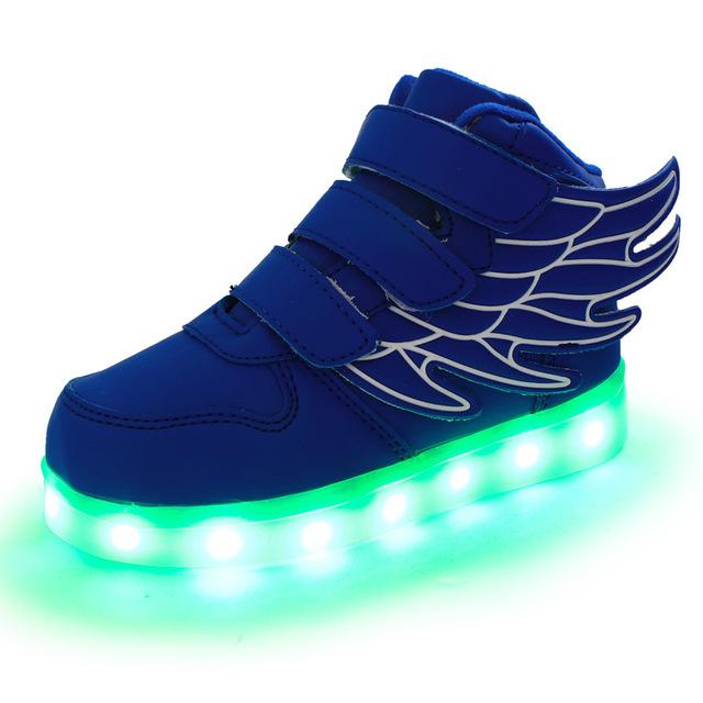 2017 Мода СВЕТОДИОДНЫЕ светящиеся для дети дети повседневная shoes светящиеся usb зарядка мальчики и девочки кроссовки с 7 цветов свет новый