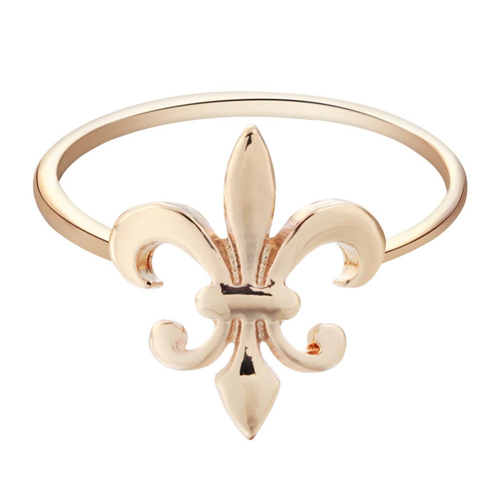 10pcs Fleur De Lis Ring Fleur De Lis Ring Royal Gift Women