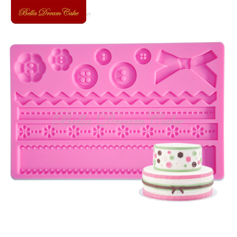 Fabric Fondant Silicone Molds Classic Cake Decorating mold,Cooking tools,Baking Tools for Cakes FM-02(China (Mainland))