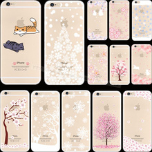 Novel Styles Painting Tree Fruit Silicon Phone Cover Cases For Apple iPhone 6 iPhone 6S iPhone6 Case Shell TKC CNB HTQ QTO