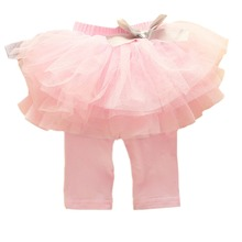 Kids Baby Girls Culottes Leggings Gauze Pants Party Skirts Bow Candy Tutu Dress(China (Mainland))