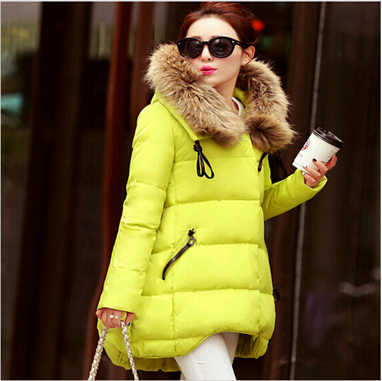2016 New Women Duck Down Jacket Large Fur Collar Thickening Hooded Women Down Parkas Women Winter Coat Black Down Jackets(China (Mainland))