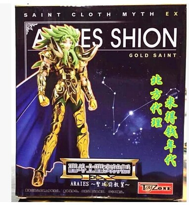 Metal armor Toyzone model Aries SHION gold Saint Seiya Myth Cloth Gold Ex marvel action figures figure toy doll(China (Mainland))