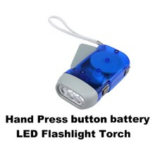 3 LED Hand Press Camping Wind Crank Flash Light