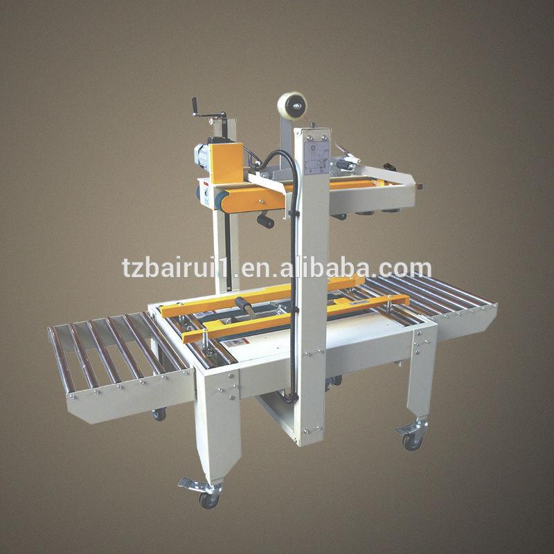 Grátis frete FXJ-6050 semi automática máquina de selagem da caixa caixa inferior e top máquina de selagem econômicos com fita(China (Mainland))
