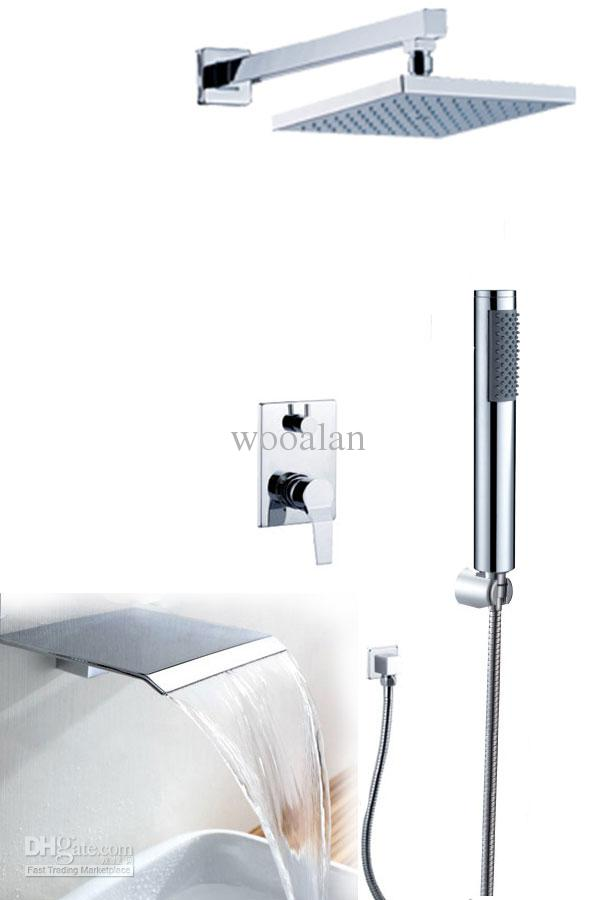 In wall bath and shower mixer faucet with wider waterfall Tap All fittings are brass 91005T<br><br>Aliexpress