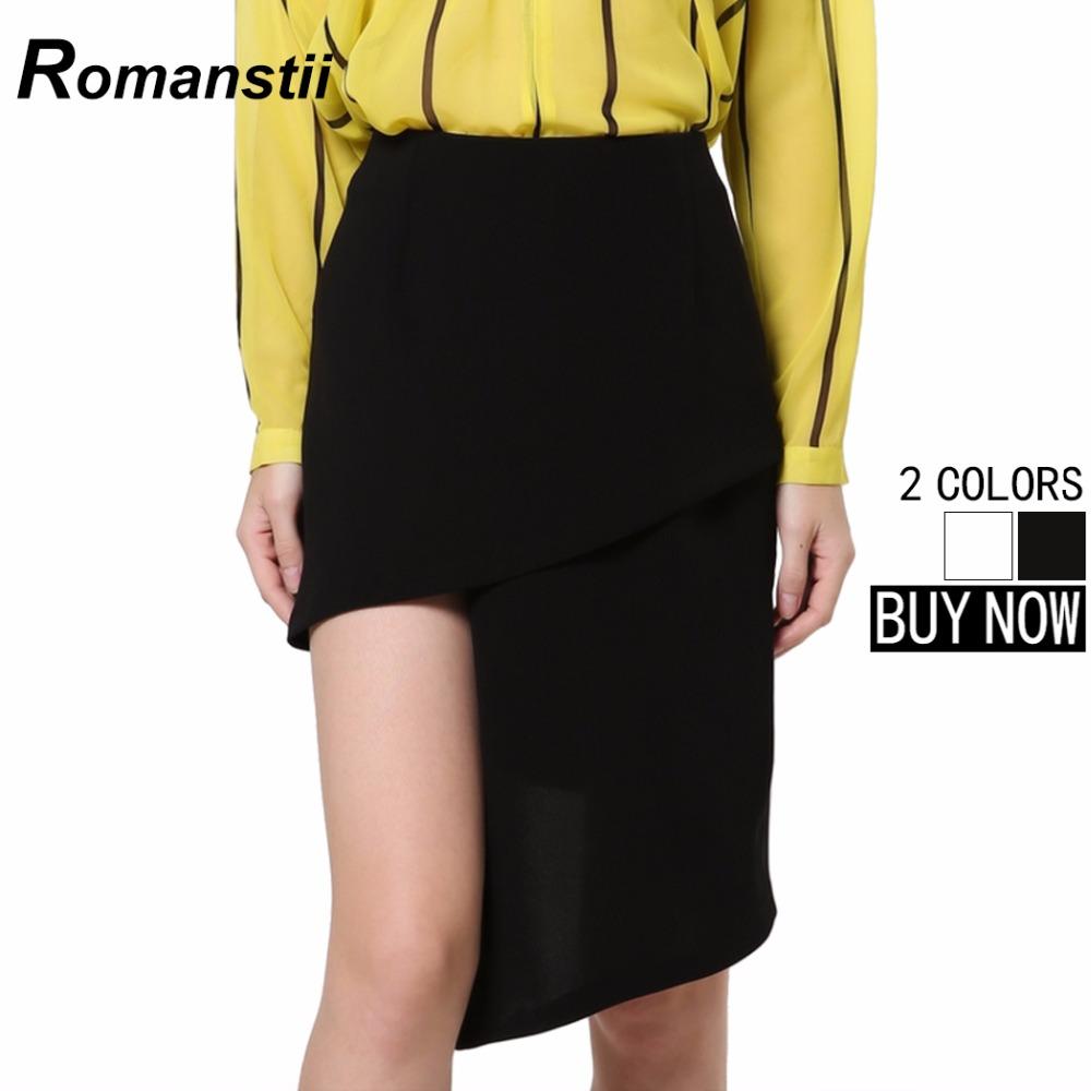 Sexy Summer Irregular Hem Slit Bandage Slim Women Skirts Female Lady Femme Femininas knee Length Black