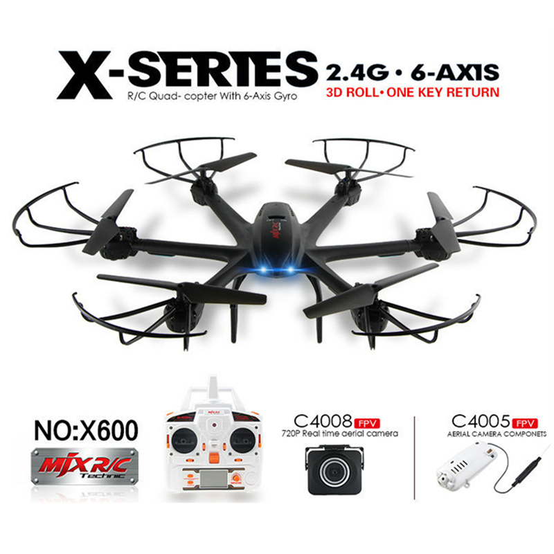 Drones with Wifi FPV HD Camera MJX X600 X-SERIES 2.4G 6-Axis Remote Control Hexacopter Professional Quadcopter UFO Headless Mode<br><br>Aliexpress