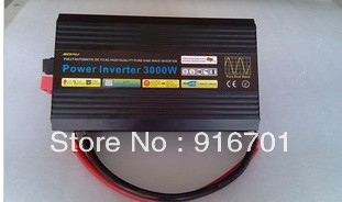 Free Shipping, 3000W Off Grid Tie Inverter DC12V/24V Pure Sine Wave Inverter for Wind Turbine/Solar System, 6000W Peak Power