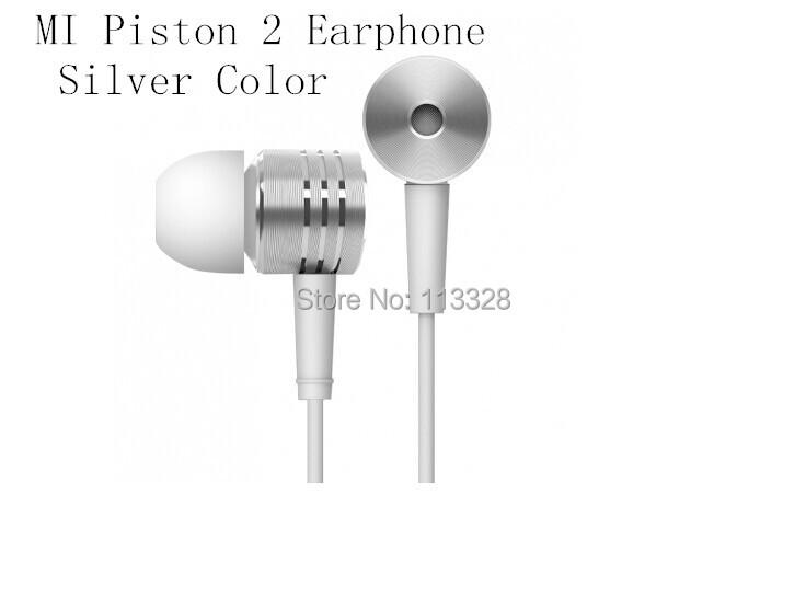 100% New Original XIAOMI Piston 2 Earphone Headphone Headset 2nd Silver color Remote & Mic Phones - 3C Linkworld Limited store