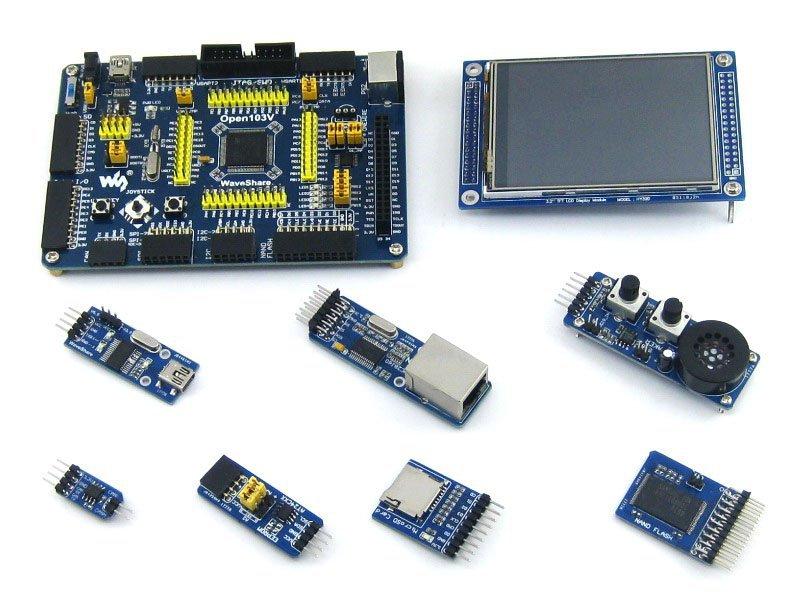 STM32 Board STM32F103VET6 STM32F103 ARM Cortex-M3 STM32 Development Board + 7 Accessory Module Kit =Open103V Package A<br><br>Aliexpress