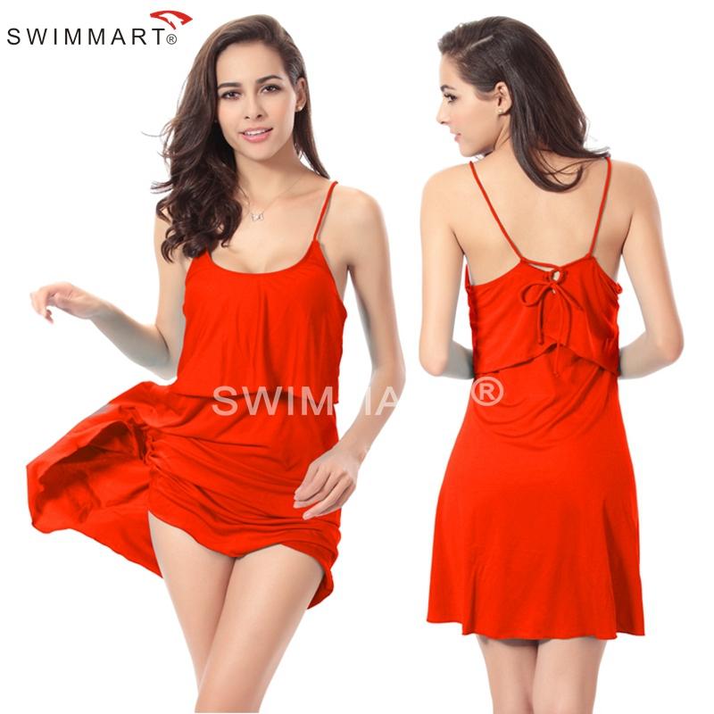 Fashion SWIMMART Designer Flounced Top Back Cross tie Summer Cover up dresses 2015 Women dress for Beach(China (Mainland))