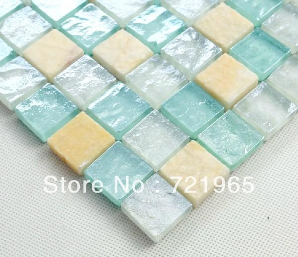 Design deco glass mosaic kitchen backsplash wall tiles SGMT024 stone glass mosaic backsplash tiles polished glass mosaic tile