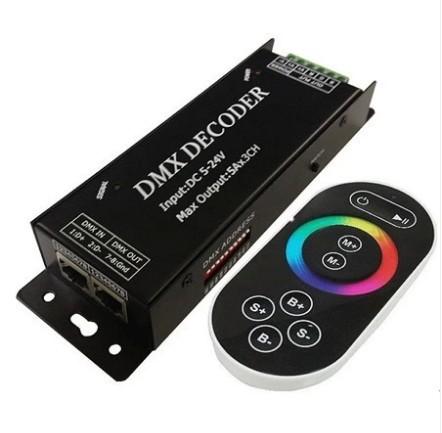 Buy ct305r controller led strip light dmx remote 3 channel5a dmx decoder controller 12 24vdc 3 channels 15a output dmx512 dmx100 led rgb strip rope aloadofball Choice Image