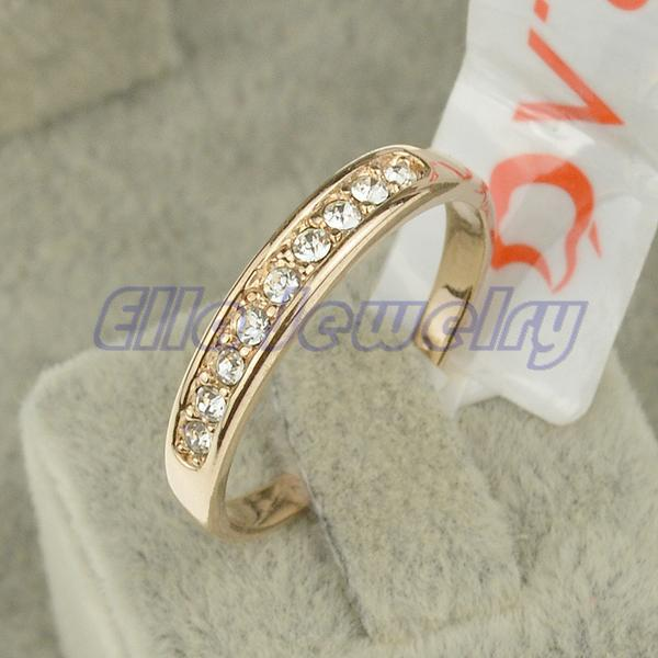 2015 New Italina brand ring Jewelry size 5.5 -10 18K rose Gold plated Women's jewelry Men and Women couple rings(China (Mainland))