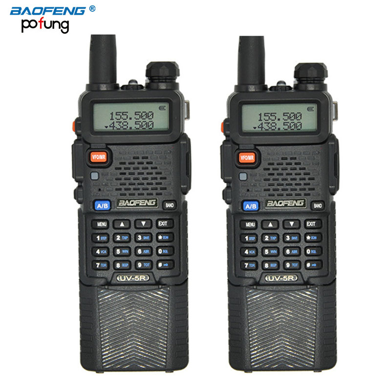 2PCS BaoFeng UV-5R Walkie Talkie 3800mAh battery Professional Dual Band UV5R Portable two way radio long-range wireless CB radio(China (Mainland))